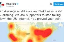 ويكيليكس: أسانج حي.. ويعلن المسؤولية عن عطل الإنترنت