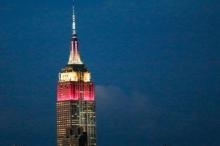 أشهر ناطحة سحاب أميركية تُضاء بألوان عَلم قطر