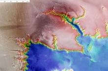 أول دليل جيولوجي على وجود شبكة مياه في المريخ