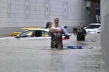إنقاذ العشرات بسبب الفيضانات في أنقرة