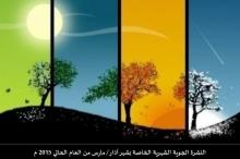 موقع طقس فلسطين يصدر النشرة الجوية الشهرية لشهر آذار / ...