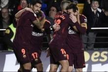 برشلونة يعود لسكة الانتصارات بالدوري على حساب فياريال