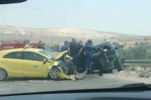 بالصور : وفاة مواطن وإصابات في حادث سير مروع في ...
