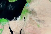 الأقمار الصناعية ترصد خلو المنطقة من السحب ..بإستثناء سواحل غزة ...