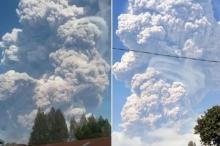 بالفيديو.. شاهد اللحظات الأولى لثوران بركان سينابونغ الذي ثار من ...