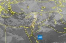 صور الأقمار الصناعية: السحب الركامية القادمة الى فلسطين تزداد ...