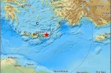 هزة أرضية تضرب شرق جزيرة كريت في البحر المتوسط