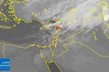 23/1/2020 | الأقمار الصناعية ترصد مركز المنخفض الجوي والجبهة الهوائية ...
