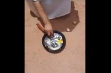 شاهد.. شمس الجزائر الحارقة تقلي البيض!