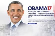 بالصور: حملة تدعو لانتخاب أوباما رئيساً لفرنسا!