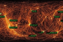 صورة مذهلة لحركة الأشعة السينية في السماء ليلا
