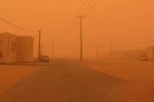 شاهد بالفيديو : أقوى عاصفة رملية في تاريخ السعودية