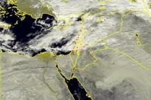 الأقمار الصناعية ظهر اليوم الجمعة ترصد الغيوم الماطرة شرق البحر ...