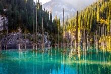 فيديو| نظرة على البحيرة الزرقاء في كازاخستان