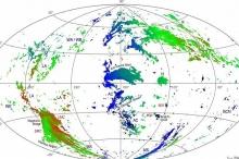 أول خريطة لغيوم غامضة تحوم حول الكون