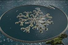 بالصور والفيديو: خطط لبناء أول مدينة عائمة!