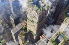 """اليابان تبني أطول ناطحة سحاب """"خشبية"""" في العالم"""