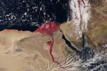لماذا تجري مياه النيل باللون الأحمر القرمزي في أحدث صور ...