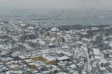 صور جوية لإسطنبول وهي مغطاة بالثلوج