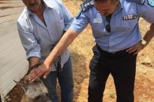 وأخيراً نواة أولى لشرطة بيئية في فلسطين... وإنقاذ ضبع جريح ...