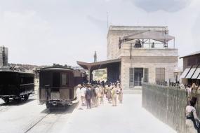 محطة قطار القدس قبل أكثر من قرن من الزمان