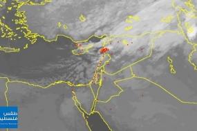 23/1/2020 | الأقمار الصناعية ترصد مركز المنخفض الجوي والجبهة الهوائية المرافقة له