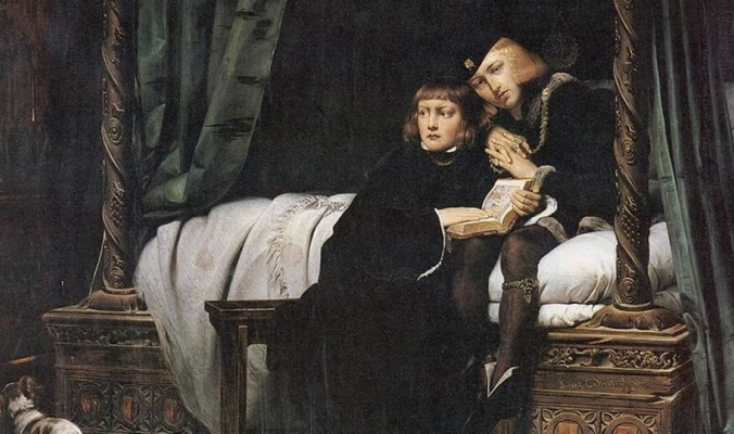 يوم قُتل الملك الطفل وشقيقه ودُفنا تحت الدرج بقلعة الرعب