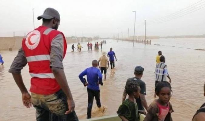 في ظاهرة نادرة.. الأمطار تغمر مدينة ليبية في عمق الصحراء الكبرى