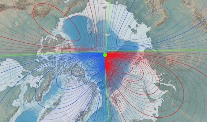 استمرار تسارع الشمال المغناطيسي للأرض نحو سيبيريا