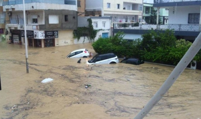 فيديوهات مرعبة.. فيضانات كارثية تجتاح تونس