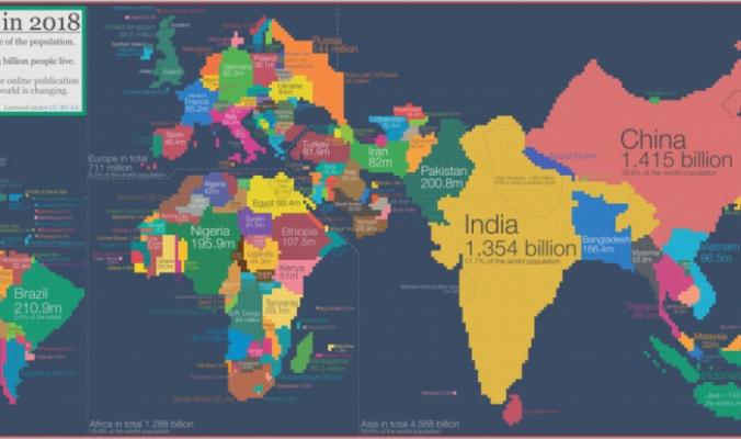 خرائط البشر والسكان لا البلدان والجغرافيا، هي ما نحتاجه لنعرف أين يتواجد الإنسان بكثافة على ظهر الكوكب