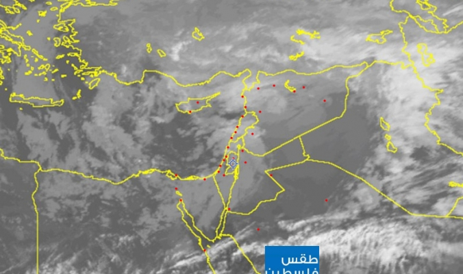 تطورات الحالة الجوية وصور الاقمار الصناعية .. النشرة المسائية