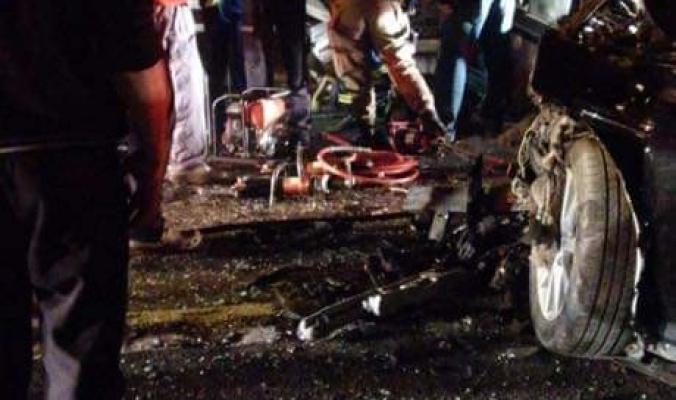 حادث سير مروع قرب قلقيلية وقتيل وعدد من الجرحى