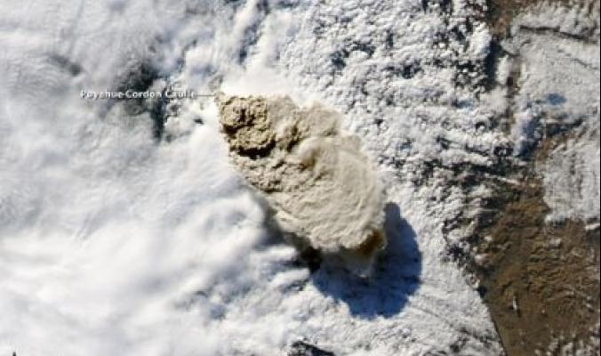 ثوران بركان في تشيلي