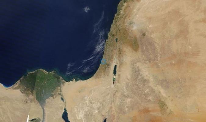 فلسطين عبر الأقمار الصناعية اليوم
