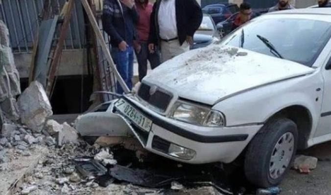 بالصور..وفاة طفلة وجدّها في حادث سير مميت في مدينة نابلس