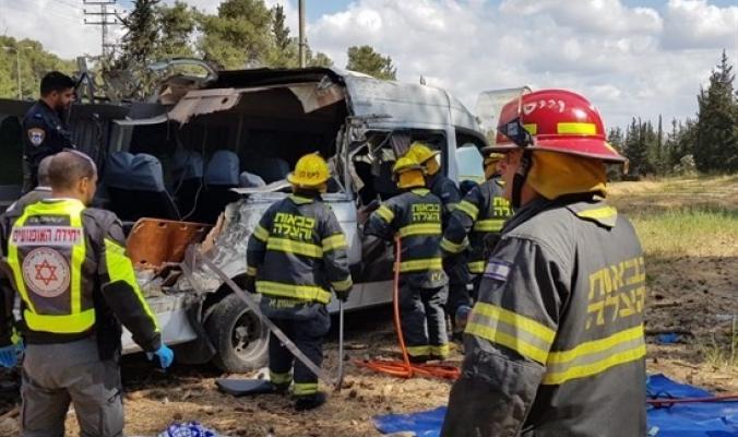 حادث سير مروع غرب رام الله وأربعة قتلى على الاقل