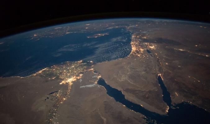 وكالة ناسا تلتقط صوراً جديدة لفلسطين وجوارها من الفضاء