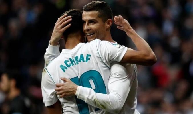 """المغربي الشاب """"حكيمي"""" أول عربي يسجل مع ريال مدريد"""