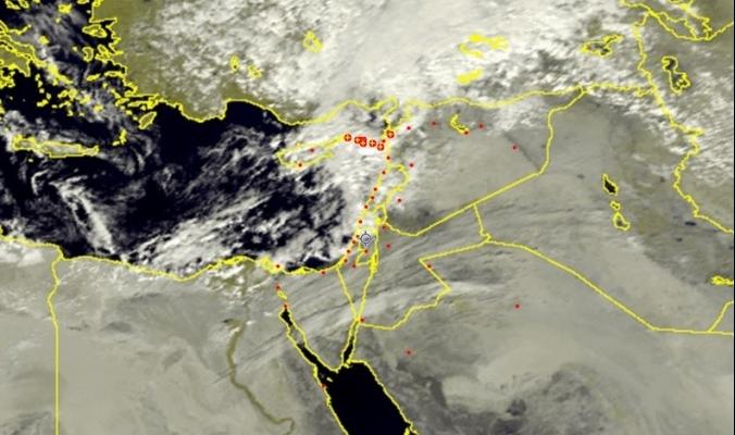 الأقمار الصناعية ترصد الأمطار التي تهطل شمال البلاد | 30/11/2015