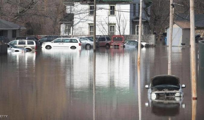 فيضان أطول أنهار أميركا الشمالية... وولايات تغرق