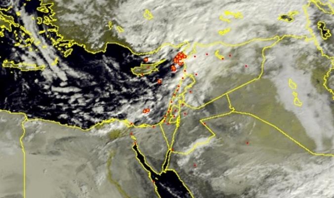جبهة هوائية باردة على مشارف فلسطين ..أمطار وعواصف رعدية في الساعات القادمة بإذن الله