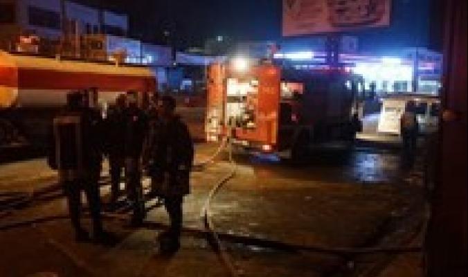 إخلاء 9 إصابات بالإختناق نتيجة حريق داخل مخبز بقلنديا