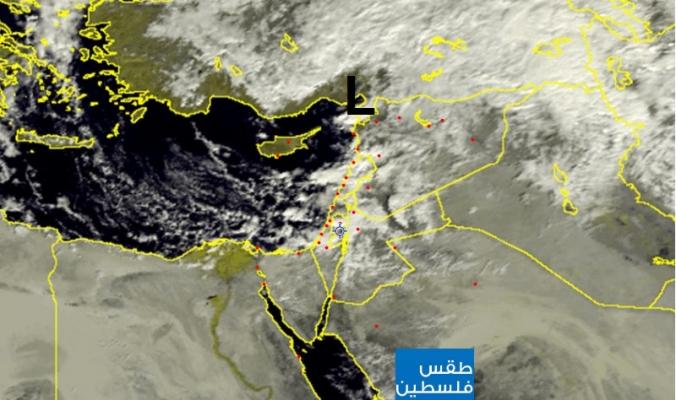 الأقمار الصناعية ترصد حركة المنخفض الجوي... إلى أين تسير الأمور؟؟