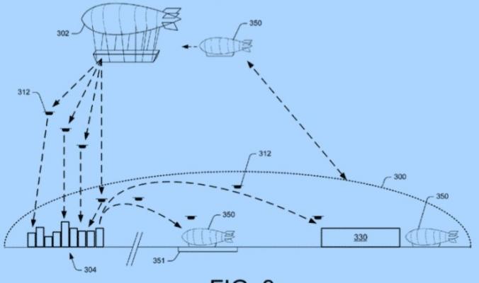 مخزن البضائع الطائر: أمازون تكشف عن المستقبل المحتمل للبيع بالتجزئة