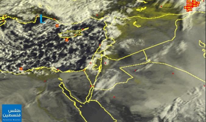 الأقمار الصناعية ترصد بدء تأثير منخفض كابول على أجواء بلاد الشام صبيحة هذا اليوم 10 نيسان 2015