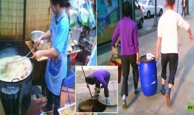 بالفيديو: تقرير صادم.. صينيون يحولون فضلات المجاري لزيوت تطبخ بها أشهر الأطباق!