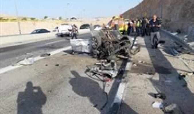 مصرع إسرائيليين وإصابة ثالث بحادث سير قرب اريحا