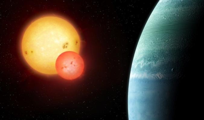 علماء الفلك يفوزون بفرصة نادرة لاكتشاف كوكب يدور حول شمسين
