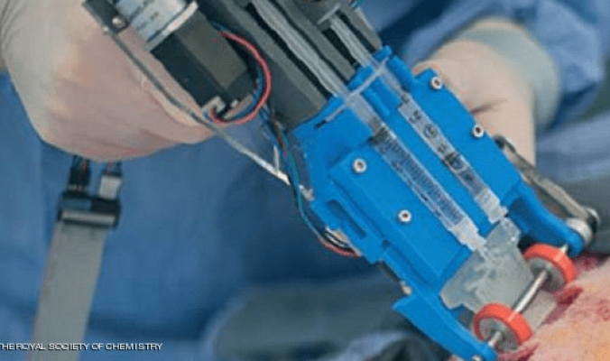 اختراع يصلح الجروح العميقة بتقنية الطباعة